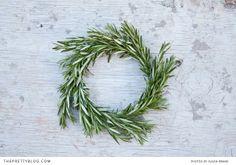 Rosemary Wreath - DIY | The Pretty Blog