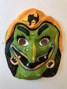 VINTAGE HALLOWEEN MASK BEN COOPER WITCH GYPSY NOS #BenCooper #Halloween Halloween Masks, Vintage Halloween, Witch, Things To Sell, Gypsy, Ebay, Art, Art Background, Kunst