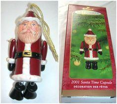 2001 Hallmark Santa Time Capsule Christmas Ornament New in Box