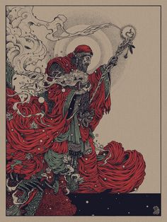 Black Sabbath - ''The Wizard'' -- Richey Beckett  Flood Gallery's Black Sabbath Art Show