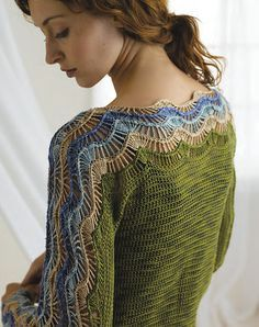 Nice hairpin lace yoke--I may just have to break out the antique hairpin lace looms and try this out.