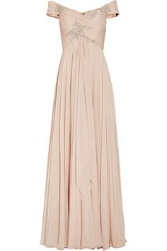 Off the shoulder blush gown / Marchesa