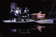 The Glass Menagerie....what a gorgeous set design. Notice the mirror reflection on the floor....stunning!