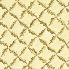 Fabric Folk Art Fancies by Bonnie Sullivan  by the yard by aBirdOnMyHead  #lattice #leaves #diamond #beige #khaki