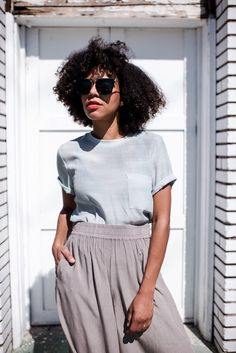 style me grasie: spring culottes    grasie mercedes ootd blogger grey monochrome minimal comfy effortless chic the dells urban outfitters topshop sonix sunnies club monaco asos zebra print creatures of comfort tee in light blue clothing need supply co. minimalistic clean