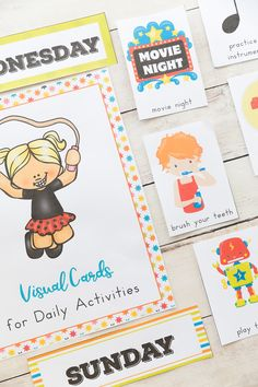Ultimate Daily Visual Schedule Cards Bundle - Natural Beach Living