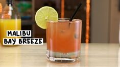 MALIBU BAY BREEZE 1 1/2 oz. (45ml) Malibu® Coconut Rum 2 oz. (60ml) Cranberry Juice 2 oz. (60ml) Pineapple Juice Garnish: Lime Wheel PREPARATION 1. Fill a rocks glass with ice and pour over coconut rum, cranberry juice, and pineapple juice. 2. Stir and garnish with a lime wheel. DRINK RESPONSIBLY!