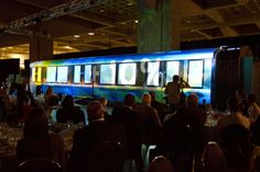 """Lucion - """"STM Metro wagons unveiling"""", video projection http://www.lucionmedia.ca"""