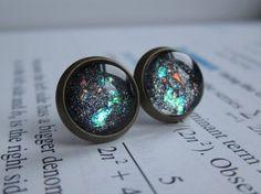 Singularity  Earring studs  science jewelry  by DarkMatterJewelry, $11.00