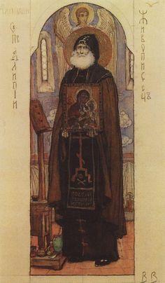 Saint Alipiy the Iconographer - Viktor Vasnetsov