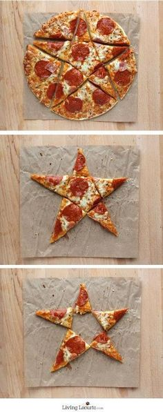 Star Cut Pizza and 5 Creative Ways to Serve Pizza at a Party! I want the middle! Creative Pizza, Cube Recipe, Pizza Party, Pizza Pizza, I Love Pizza, Fun Crafts For Kids, Love Food, Fun Food, Me Time