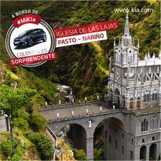 Los #KiaFan recorren el país de punta a punta. Excelente destino al sur de #Colombia: el santuario de Las #Lajas en #Pasto, #Nariño