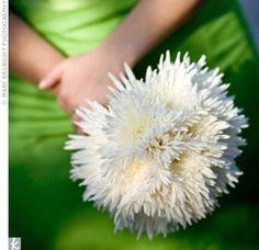 {Bridesmaid's Bouquet Featuring White Spider Mums}