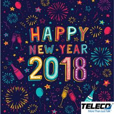 Happy New Year to all of our customers, friends and families! Happy New Year 2018, Communication System, Telephone, Families, Friends, Bud, Infant Room, Joy, Amor