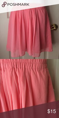 """LOFT pink skirt Size: petite XS 