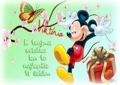 Viktória K tvojmu sviatku len to najlepšie ti želám Tweety, Minnie Mouse, Disney Characters, Fictional Characters, Blog, Blogging, Fantasy Characters