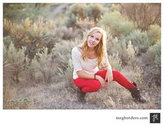 This outfit is amazing!  Good for Urban, Nature or Country session!  Red makes the image pop!