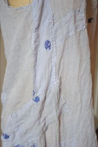Image of sari slip dress with color