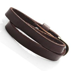 Stunning Dark Brown Leather Wrap Around Bracelet for Him and Her, Unisex (Resizable), http://www.amazon.com/dp/B00J1IKDSQ/ref=cm_sw_r_pi_awdm_0JR7vb02WS6TQ