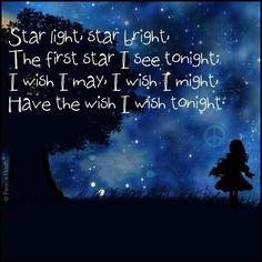 Star light, star bright you are what happened when I wished upon a star!!!