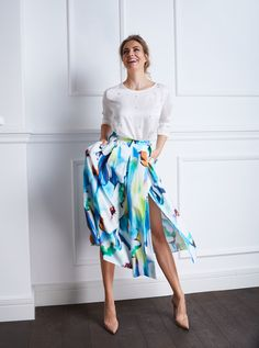 Romantic outfit idea floral skirt  summer