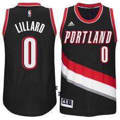 b7c0243d0 Damian Lillard Portland Trail Blazers adidas Player Swingman Road Jersey -  Black