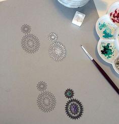 Done! ✨#jewelry #jewelryrendering #jewelrydesign #design #drawing #rendering…