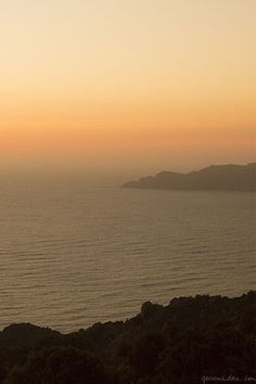 Sunset in Corsica, from my collaboration with L'Occitane and Marie Claire Fr / Garance Doré