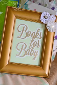 Great baby shower idea!  Bring a book instead of a card for baby!