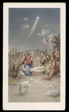 """santino-holy card""""""""ediz. FB n.3039 NATIVITA'"""