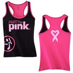 Zumba Party in Pink breast cancer awareness racerback top. For every racerback sold Zumba Fitness will donate 30% of the purchase price to Susan G. Komen for the Cure. Buying this with the Zumba instructors discount - if you want one let me know!