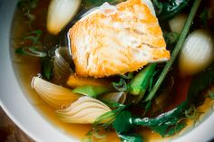 Homemade Japanese dashi broth is simpler than you think! Use this recipe for a flavorful fish soup with plenty of veggies.