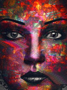 color ritual on the face Dragons Online, Black Star, Pictures To Paint, Online Casino, Graphic Illustration, Color Splash, Face, Painting, Design