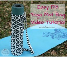 How to make a #yoga mat bag video tutorial. I teach you step-by-step how to make it. Beginner friendly. Crafty Gemini | Yoga Mat Bag- Video Tutorial | http://craftygemini.com