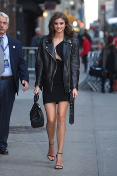 Taylor Hill arriving at the Late Show with Stephen Colbert in NY