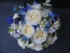 Blue wedding flowers for May | ... wedding special in the april may issue of wedding flowers magazine