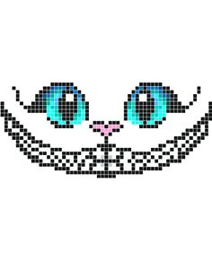 Zeichnungen Einfach: Stickaz - Cat with big blue eyes & happy smile minecraft pixel art grid maker a. Pixel Art Naruto, Pixel Art Anime, Motifs Perler, Perler Patterns, Kandi Patterns, Cross Stitching, Cross Stitch Embroidery, Cross Stitch Patterns, Minecraft Pixel Art