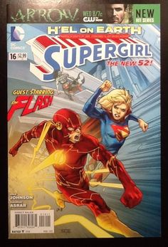 SUPERGIRL #16 NEW 52  H'EL ON EARTH / F-VF / FLASH TV Crossover / DC Comics 2013. SOLD!!!