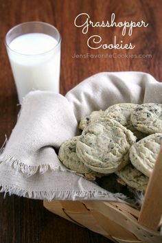 Grasshopper Cookies from Jen's Favorite Cookies #oreo #mint