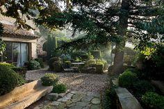 rose, stone paths, backyard, pine, wonder patio, garden