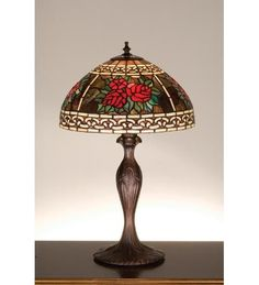 22.5 Inch H Roses & Scroll Table Lamp Table Lamps