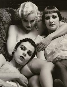 Madonna, Debi Mazar & friend - 1991 - Flesh and Fantasy - Rolling Stone Magazine - Photo by Steven Meisel