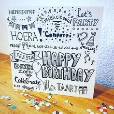 handlettering happy birthday font astic pinterest karten geburtstage und karten basteln. Black Bedroom Furniture Sets. Home Design Ideas