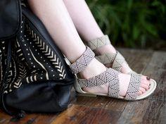 tribal patterned sandals