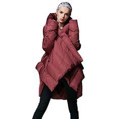 117549feb65f Womens Winter Jacket Cloak Loose parka Warm coatFM1618RedXL    Click for  Special Deals Dress Coats