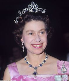 The George VI sapphire tiara, was added to the Queen's sapphire collection - started by her father on her wedding day - in 1963