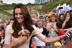 The Duchess of Cambridge at Towan Beach, Newquay on 1st September 2016