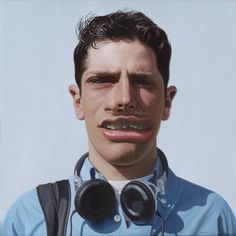 "By Philip Harris ""Young man"" oil on linen"