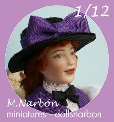 porcelain doll, scale 1/12 by M.Narbon