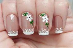 New nails sencillas verano pies Ideas Manicure Nail Designs, French Manicure Nails, Toe Nail Designs, French Nails, Manicure And Pedicure, Trendy Nail Art, New Nail Art, Gorgeous Nails, Pretty Nails